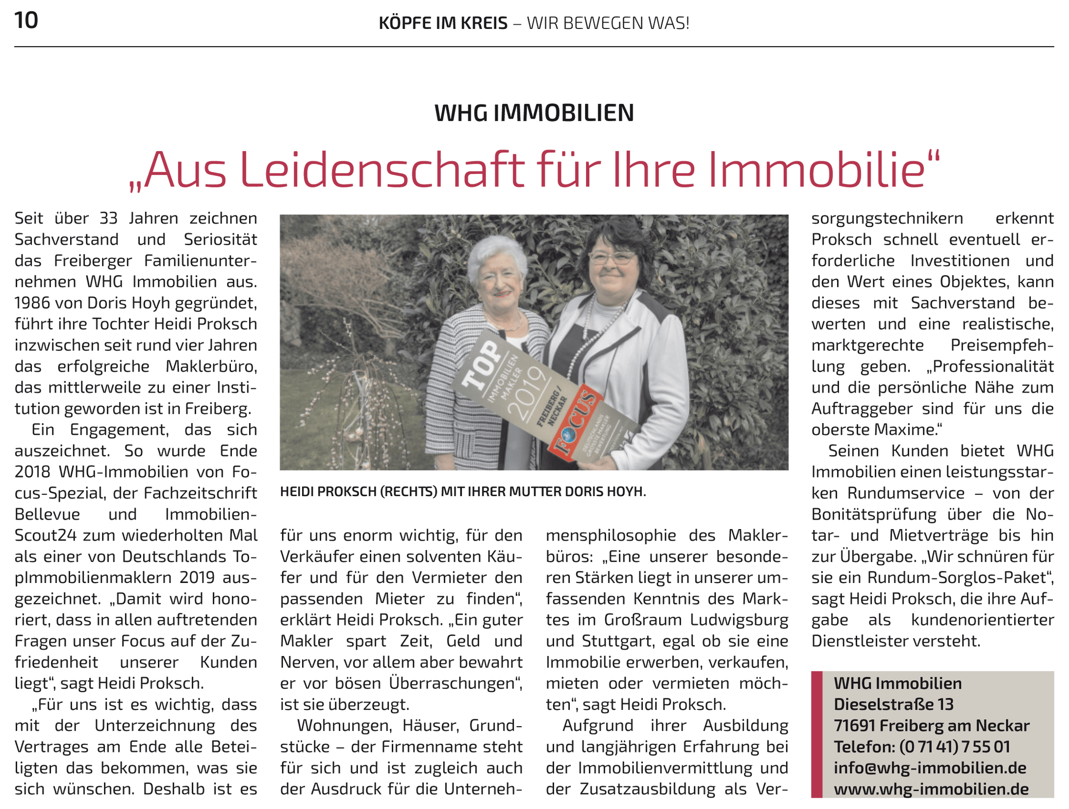 Zeitungsartikel April LKZ