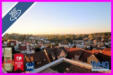 Preisreduziert: Gepflegte 1,5-Zimmer-Wohnung mit großem Balkon und toller Aussicht!, 71634 Ludwigsburg, Etagenwohnung