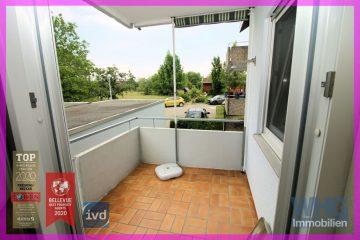 Schöne 2-Zimmer-Mietwohnung mit Balkon und Einzelgarage, 71642 Ludwigsburg, Erdgeschosswohnung