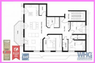 Erstbezug nach Umbau: 4,5-Zimmer-Wohnung mit Balkon, einem TG-Stellplatz und einem PKW-Stellplatz, 71691 Freiberg am Neckar, Erdgeschosswohnung