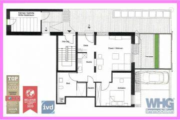 RESERVIERT: Erstbezug nach Umbau – Barrierefreie 2-Zimmer-Erdgeschosswohnung mit  Terrasse und PKW-Stellplatz, 71691 Freiberg am Neckar, Erdgeschosswohnung
