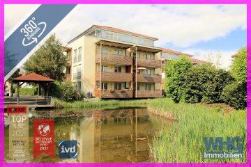 Idyllisches Wohnen am See: 3-Zimmer-Erdgeschosswohnung mit Balkon, Terrasse und Carport, 71711 Steinheim an der Murr, Erdgeschosswohnung