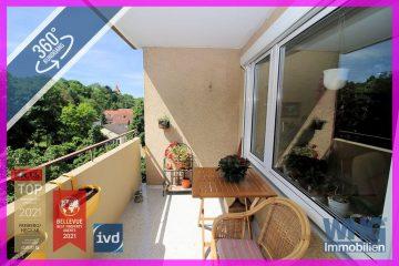 Sofort beziehbar: 3-Zimmer-Wohnung mit Balkon und Garage, 71691 Freiberg am Neckar, Etagenwohnung